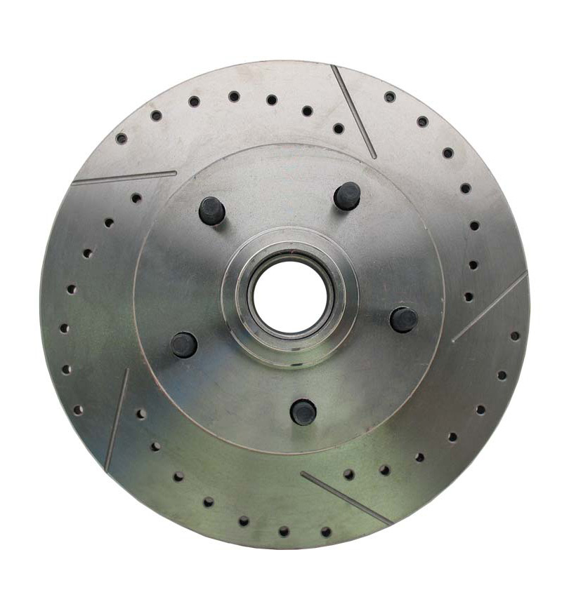 1962-1972 Mopar A, B, & E Body  Vehicle Drilled/ Slotted Large Bolt Pattern Front Rotor (Passenger Side)