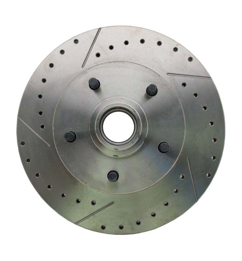 1962-1972 Mopar A, B, & E Body Vehicle Drilled/ Slotted Large Bolt Pattern Front Rotor (Driver Side)
