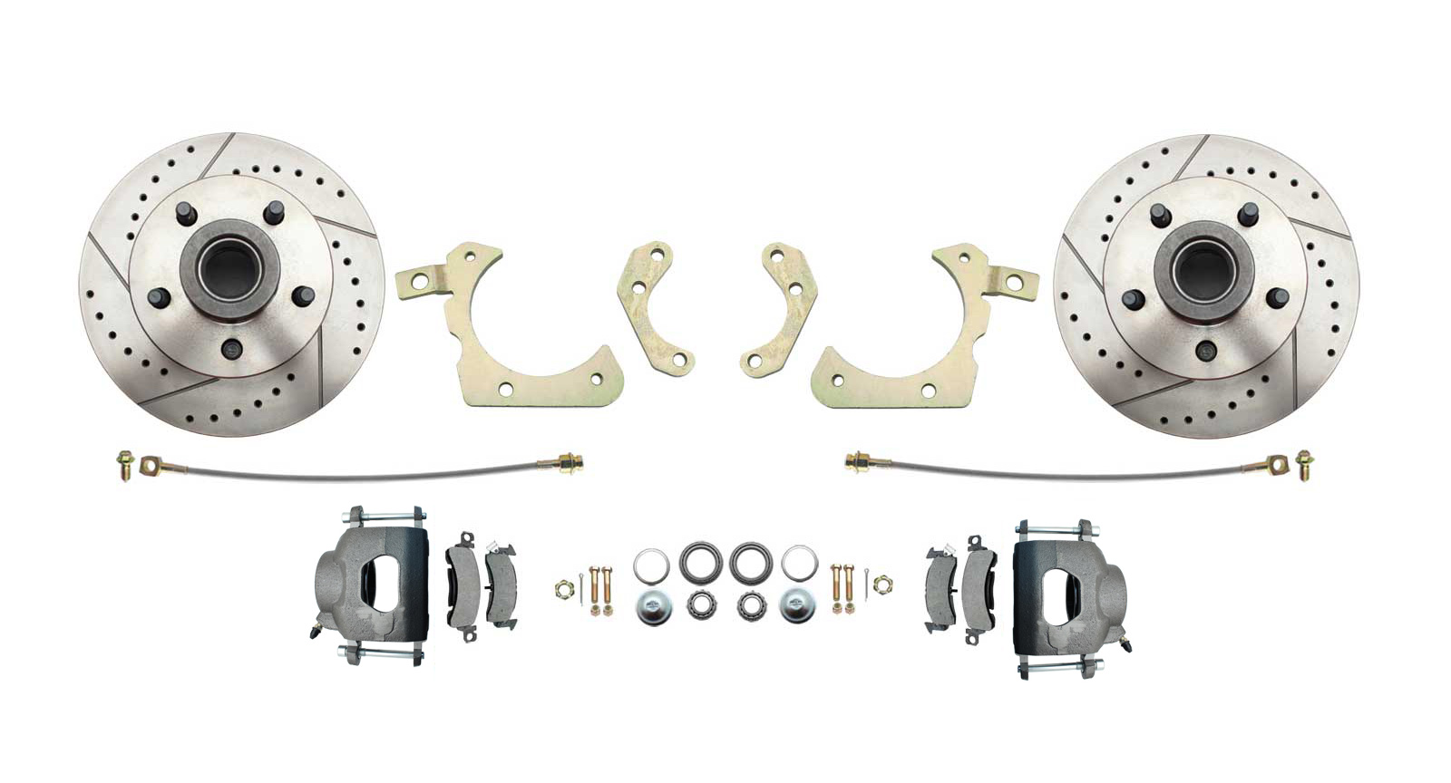 1955-58 Chevy Stock Height High Performance Disc Brake Conversion Kit (Impala, Bel Air, Biscayne)