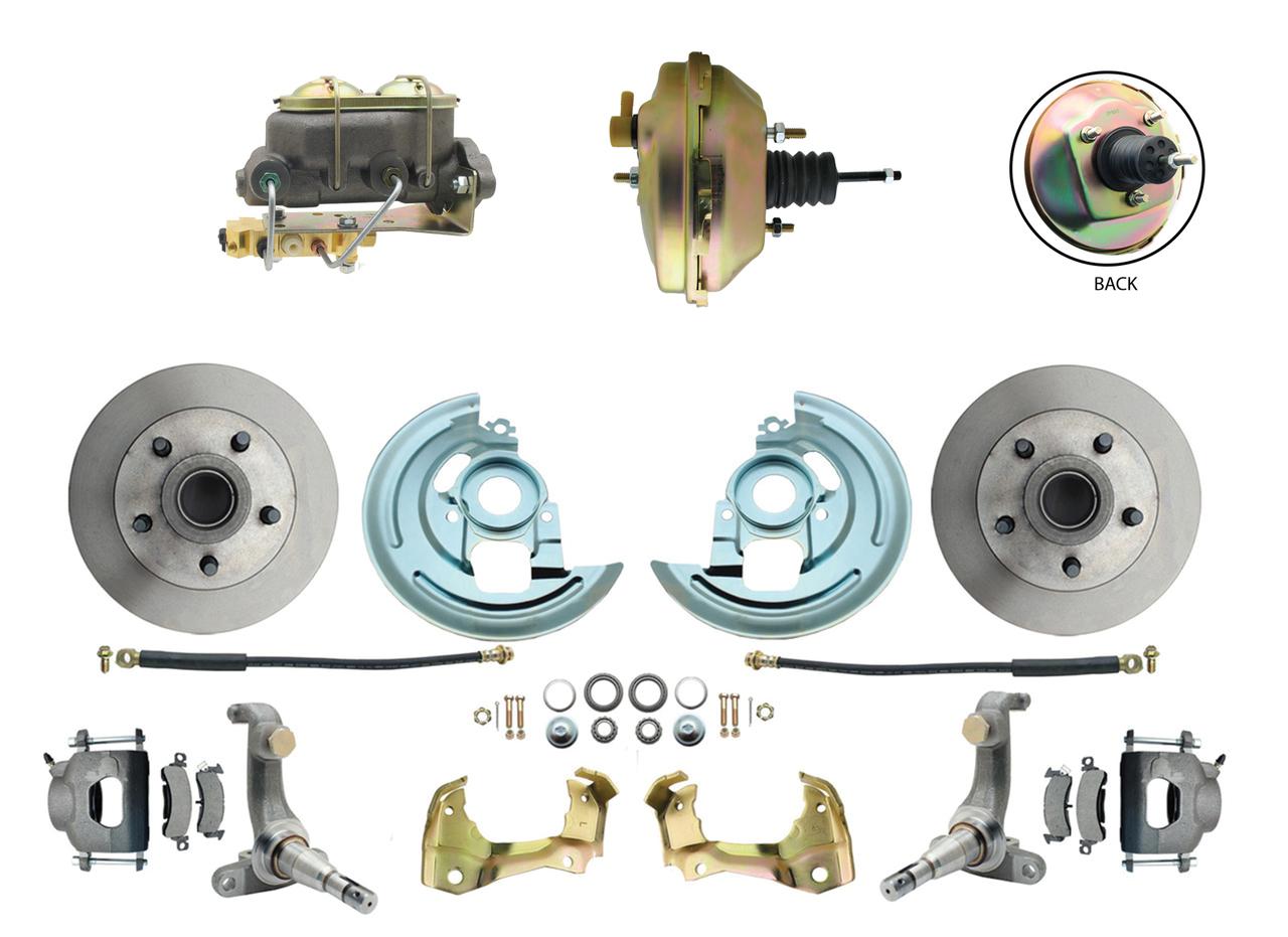1962-1967 Nova Power Disc Brake Conversion Kit W/ 9 3 Stud Booster