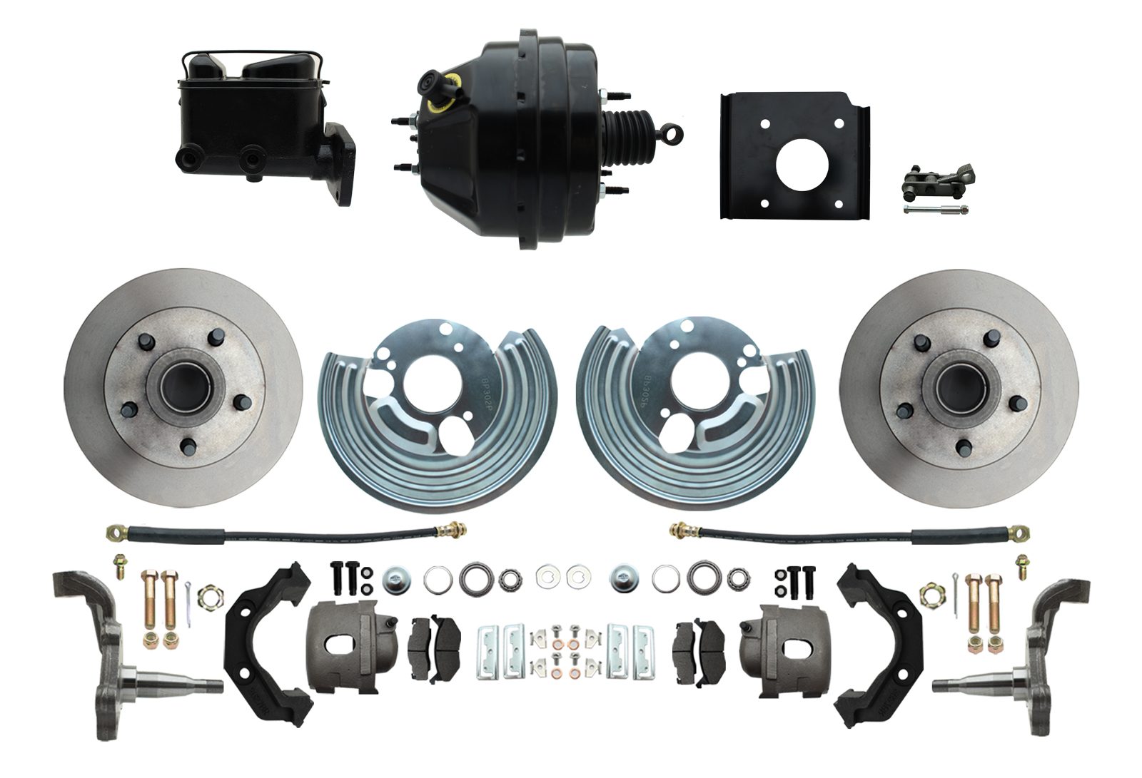 1966-70 B Body 71-74 E Body O.E.M. Style Disc Brake Kit & Booster Conversion Kit W/ Casting Numbers
