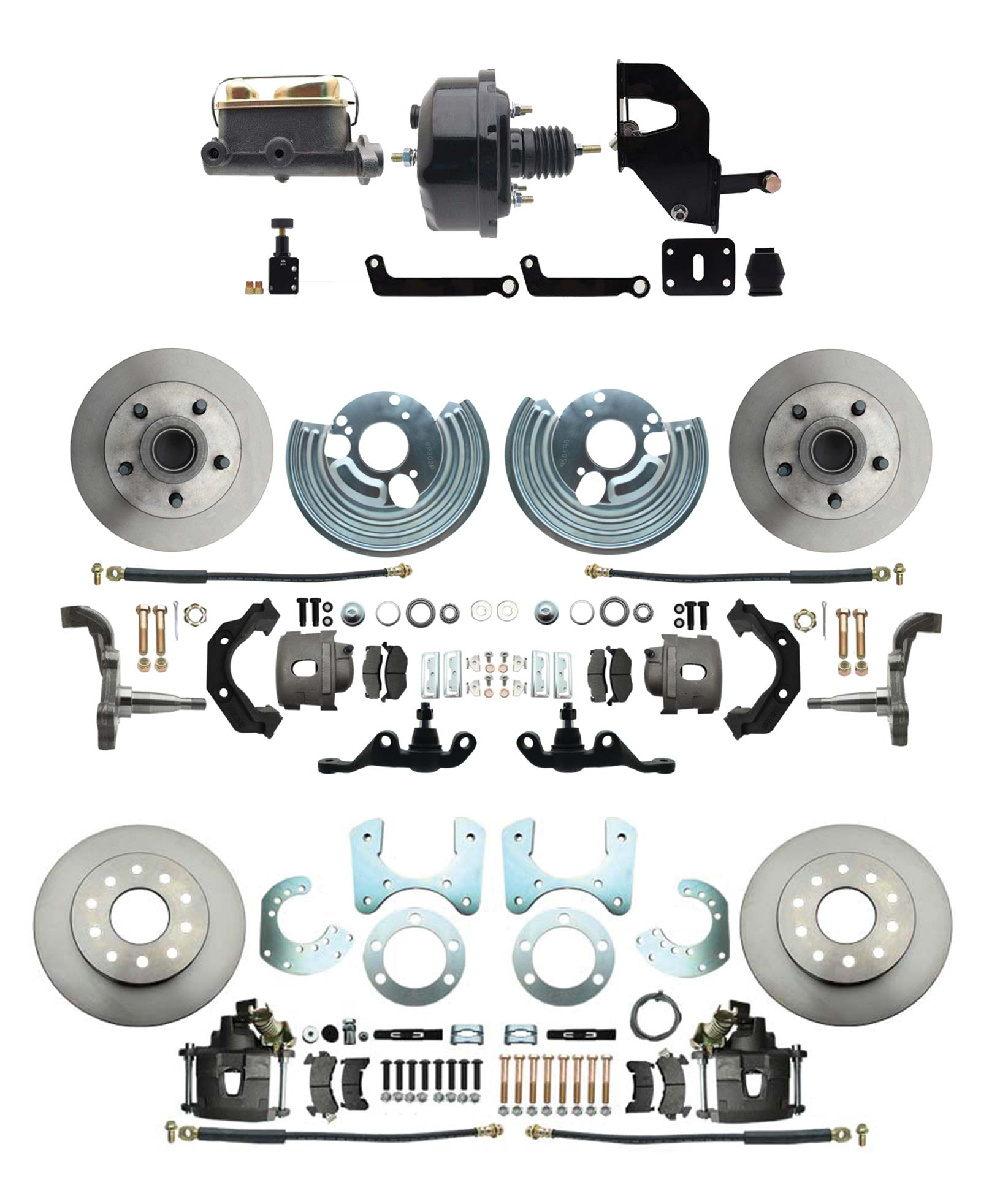 1962-1972 A Body Front & Rear Power Disc Brake Conversion Kit (5x4) Bolt Pattern