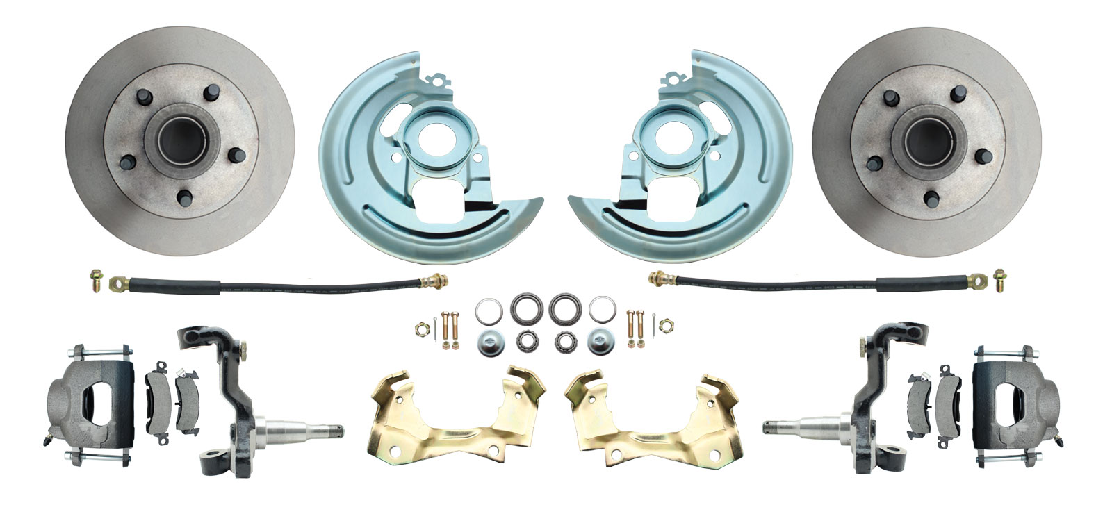 1964-1972 GM A Body (Chevelle, GTO, Cutlass) Stock Height Front Disc Brake Kit
