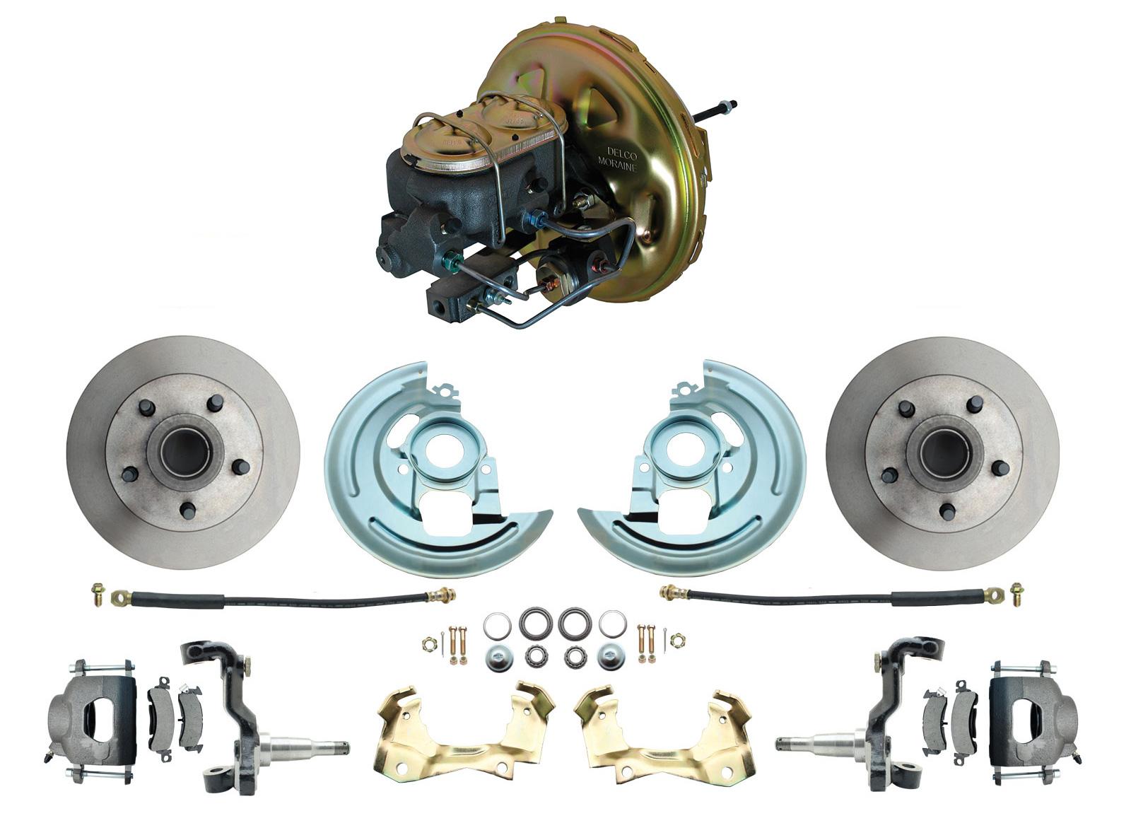 1967-1969 F Body 1968-1974 X Body Front Power Disc Brake Conversion Kit Standard Rotors W/ O.E.M. Booster Kit