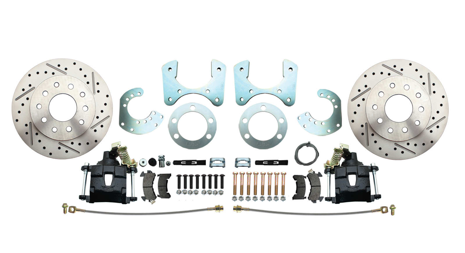 DBK834LXB - Mopar 8 3/4 (A, B, E Body) Rear High Performance Disc Brake Conversion Kit W/ Black Powder Coated Calipers