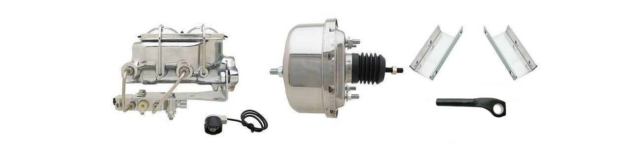 1964-1966 Ford Mustang Chrome Power Brake Booster Conversion For (Disc/ Disc) Automatics Only