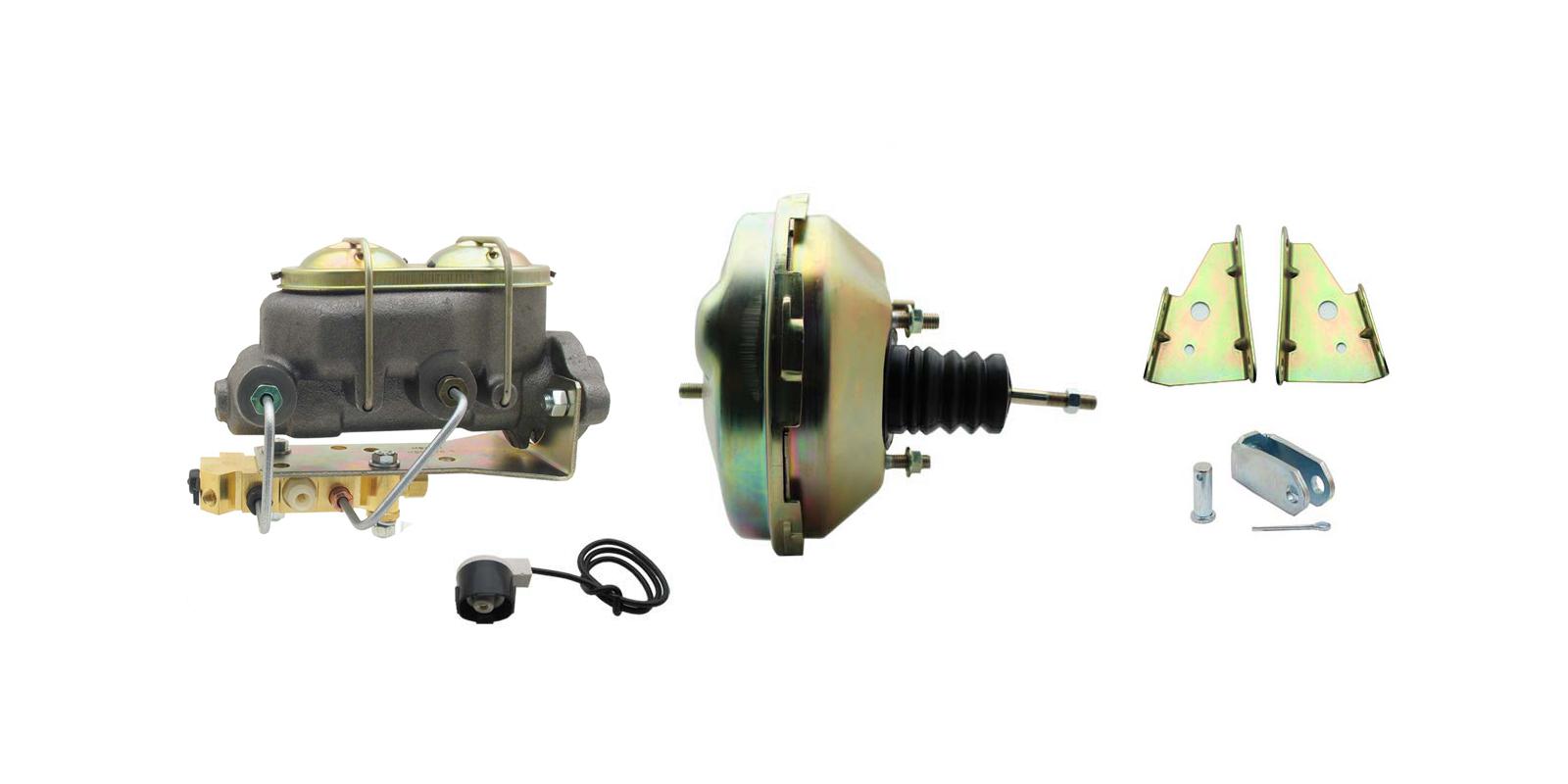 GM A, F, X 9 Single Zinc Power Brake Booster Conversion Kit (Disc/ Drum)