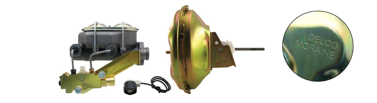 GM-224 - GM A, F, X 11 Single Delco Moraine O.E.M. Stamped Power Brake Booster Conversion Kit (Disc/ Drum)