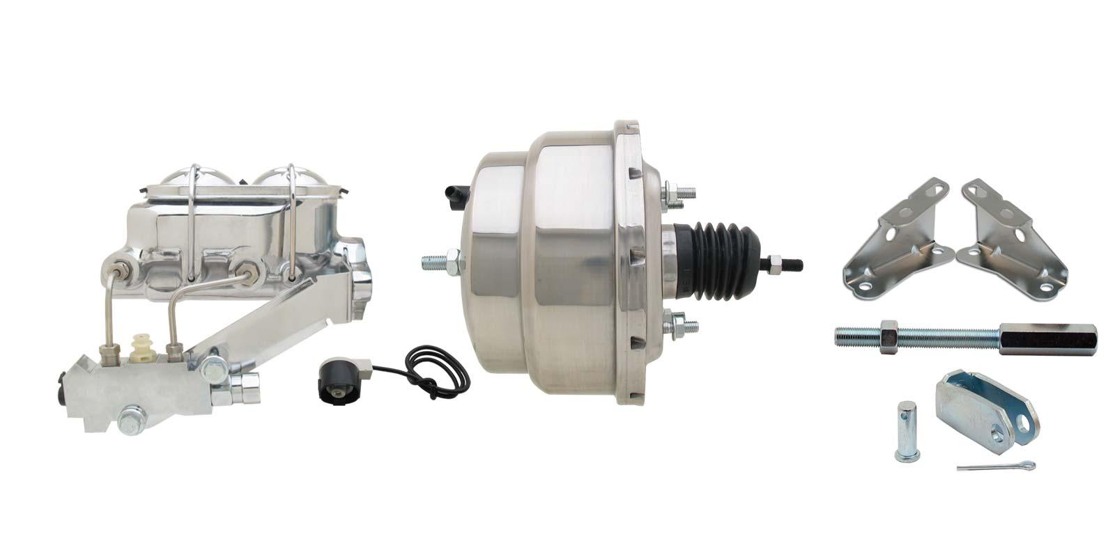 GM A, F, X 8 Dual Chrome Power Brake Booster Conversion Kit (Disc/ Drum)