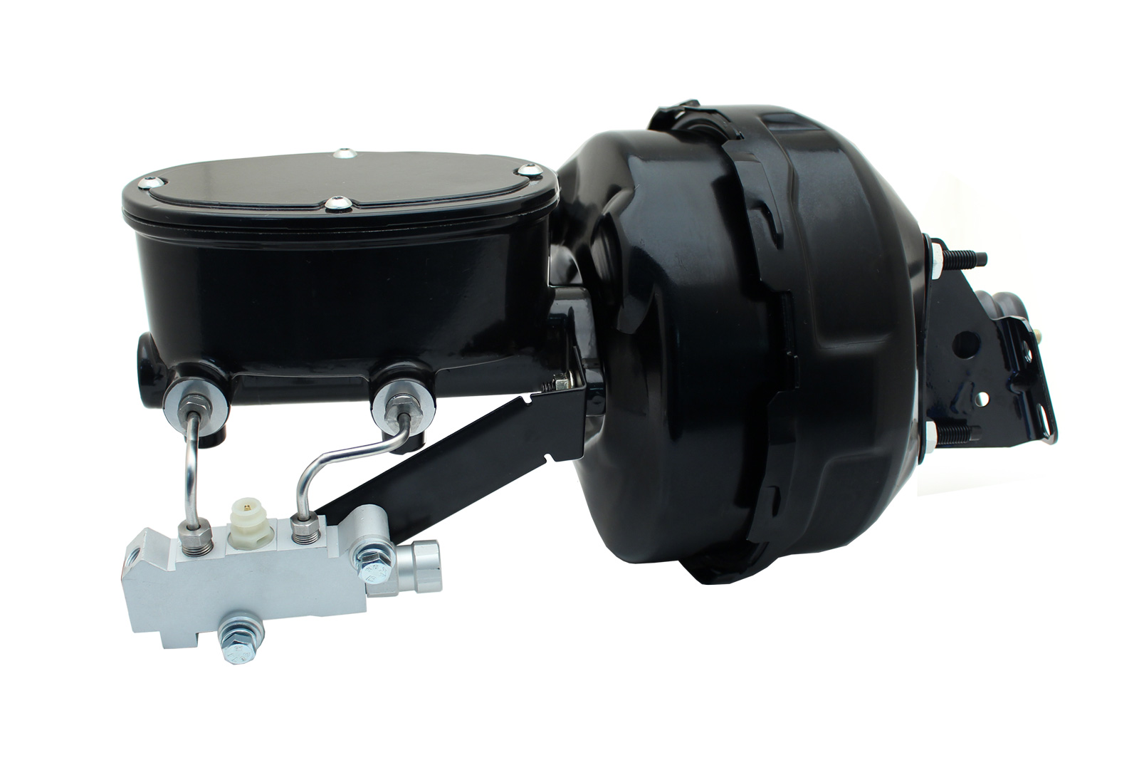 9 Dual Power Conversion W/ Wilwood Style Oval Master Cylinder Kit For GM 1964-1972 GM A Body Cars (Disc/ Disc)