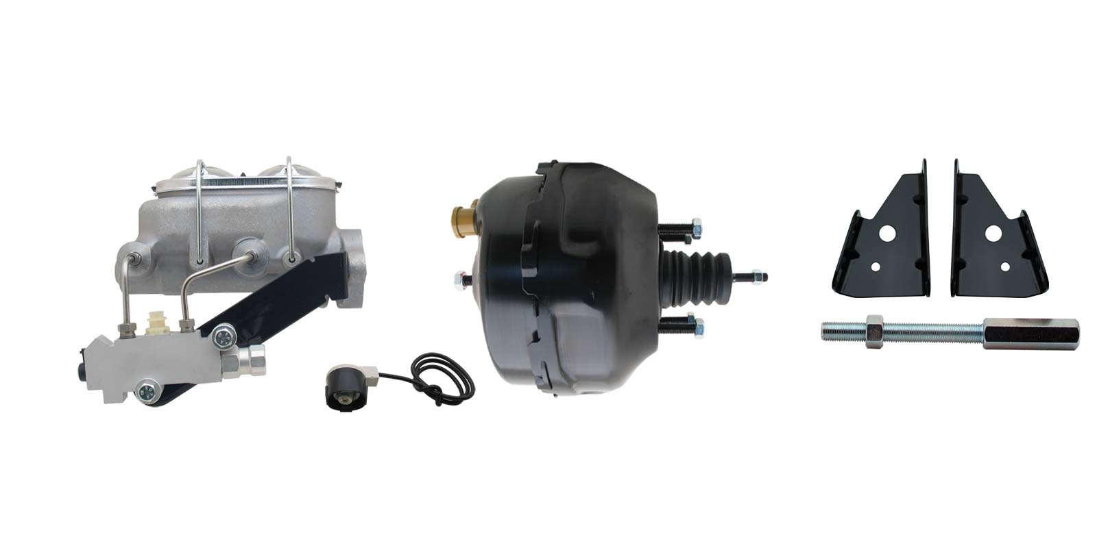 1964-1972 GM A, F, X 9 Delco Black Power Brake Booster Conversion Kit