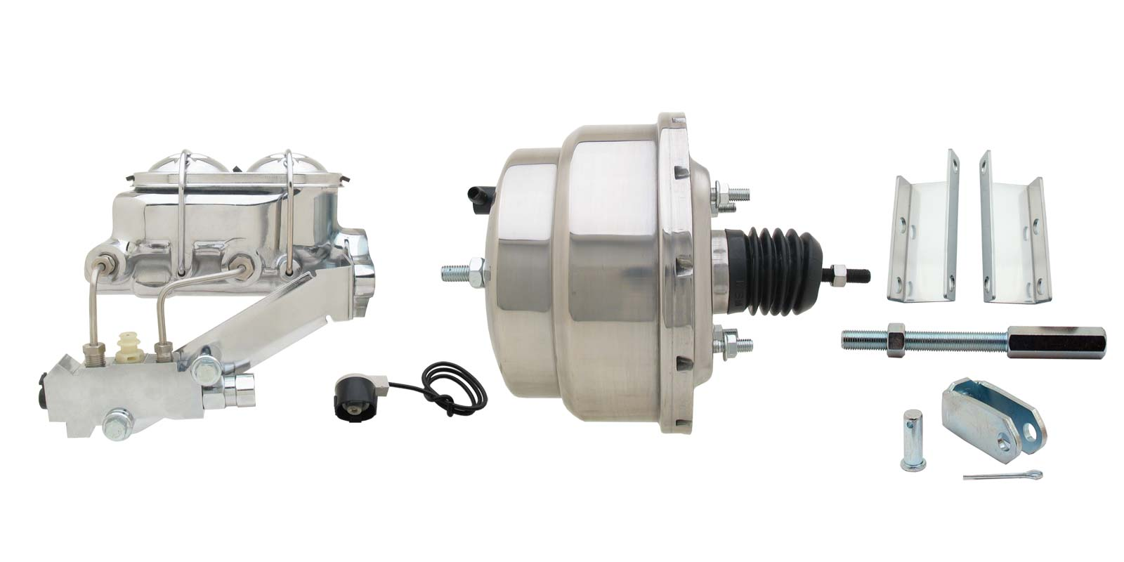1955-1958 GM Full Size 8 Dual Chrome Power Brake Booster Conversion Kit