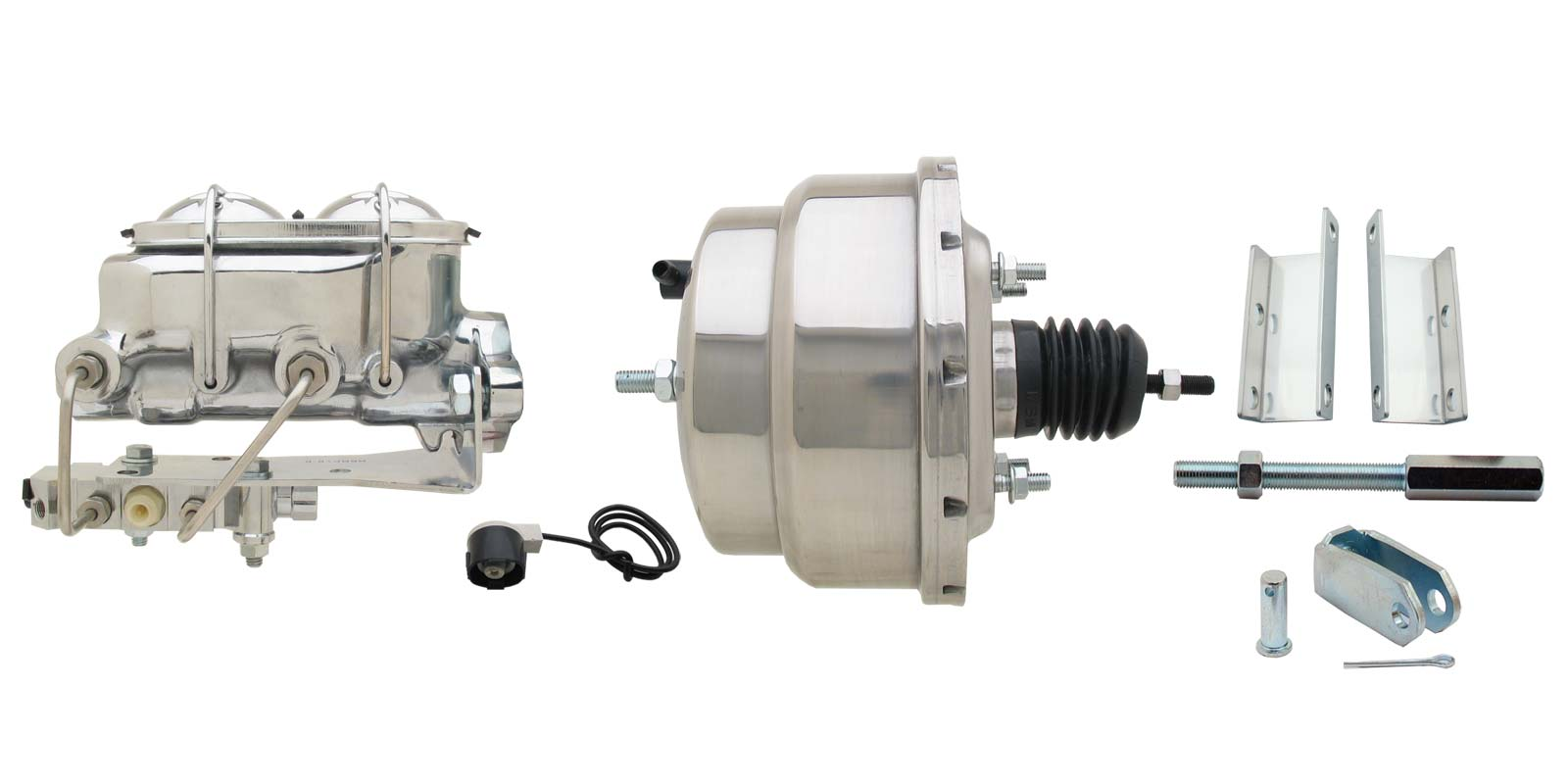 1955-1958 GM Full Size 8 Dual Stainless Steel Power Brake Booster Conversion Kit
