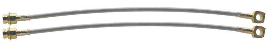 Rear Braided Stainless Brake Hose - 10MM