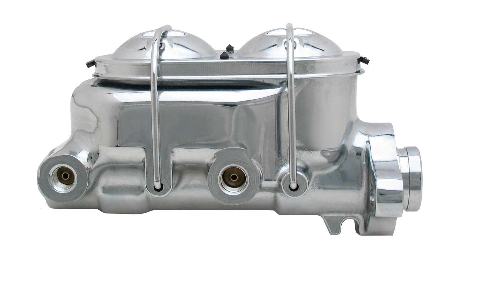 GM Universal Aluminum Chrome Master Cylinder 1-1/8  Bore