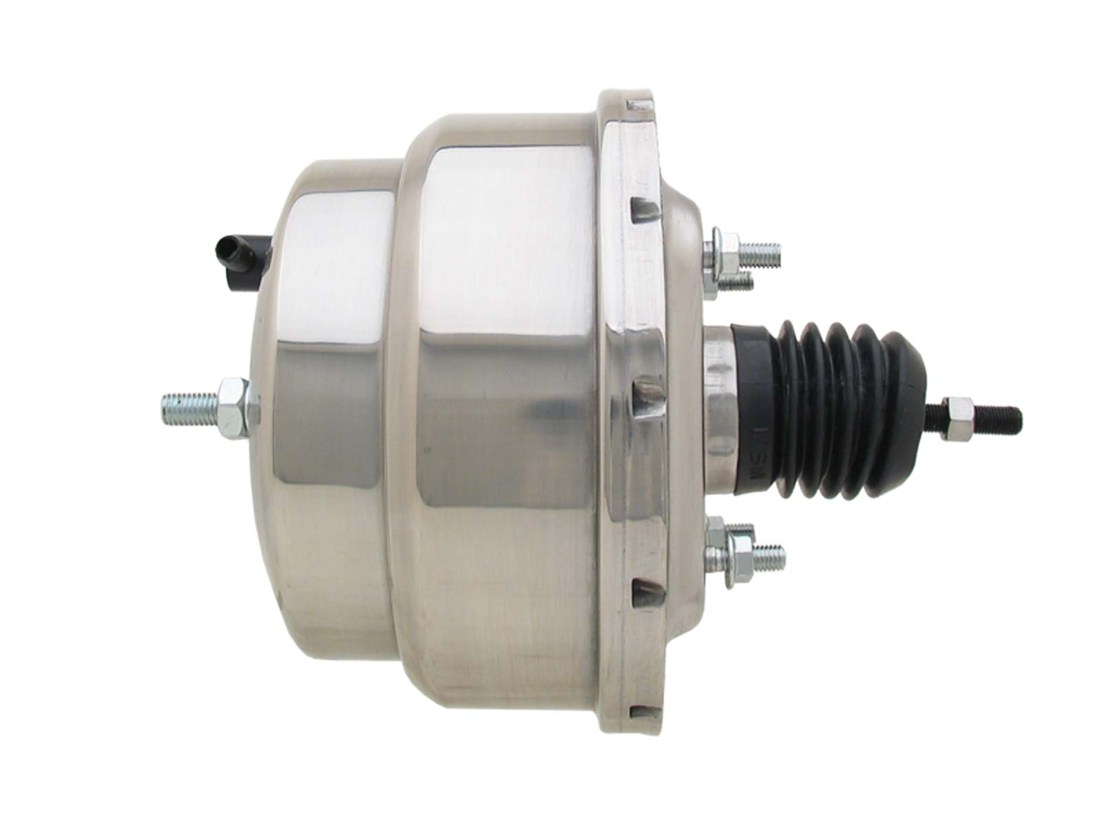 Universal 8 Dual Power Brake Booster Polished Stainless Steel