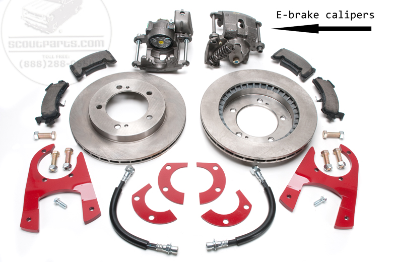 Scout 80 Dana 27 Disc Brake Conversion Kit With E-Brake