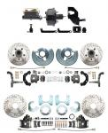 1962-1972 A Body Front & Rear Power Disc Brake Conversion Kit W/ Drilled & Slotted Rotors (5x4.5) Bolt Pattern