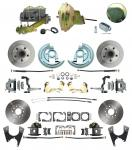 "1964-1972 GM A Body Front & Rear Power Disc Brake Conversion Kit Standard Rotors W/ 9"" Delco Stamped Booster Kit & Casting Number Master"