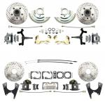 "1964-1972 GM A Body (Chevelle,  GTO,  Cutlass) 2"" Drop Front & Rear Disc Brake Kit W/ Drilled & Slotted Rotors"