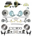 "1967-1969 Camaro/ Firebird & 1968-1974 Chevy Nova Front & Rear Power Disc Brake Conversion Kit Standard Rotors W/ 9"" Dual Zinc Booster Kit"